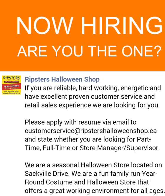 BOO! Ripsters Is Hiring: